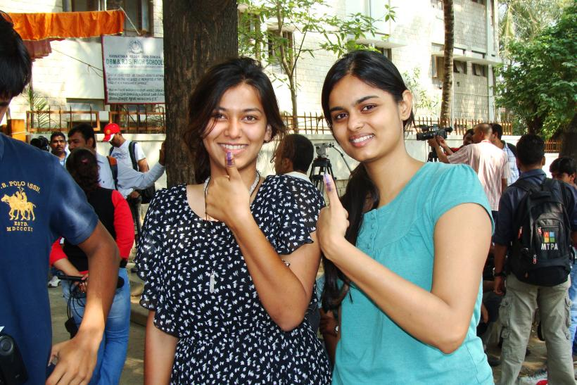 Apoorva Goyal, (right) 24, with a friend (2)