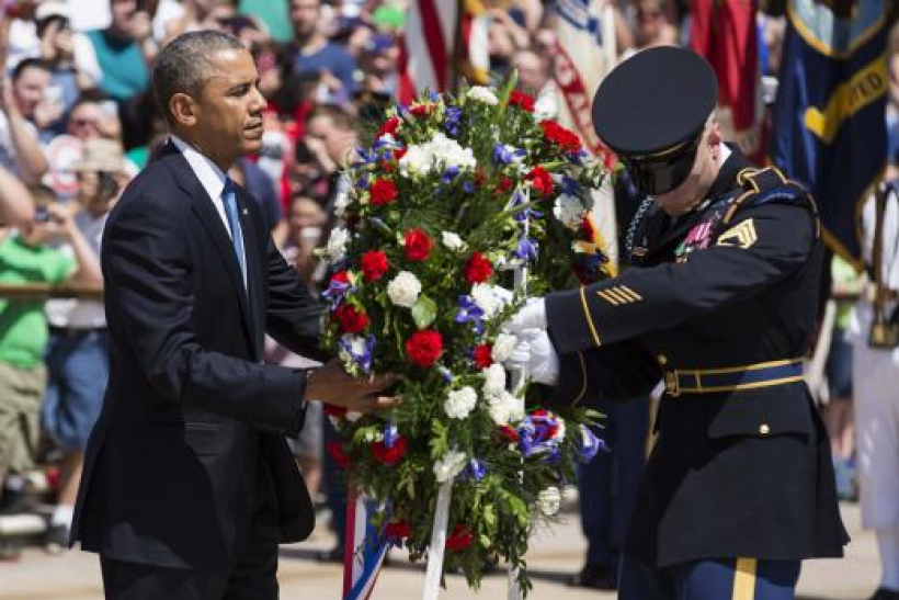 Obama at Arlington, Memorial Day 2014