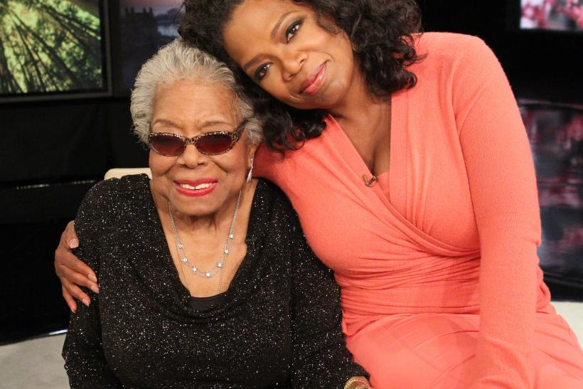 Maya Angelou and Oprah Winfrey