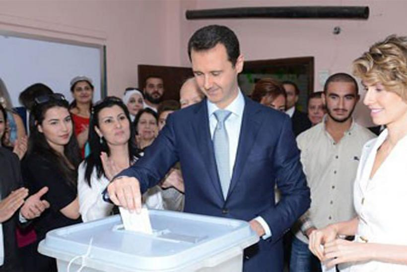 Syrian Election_AssadAsma