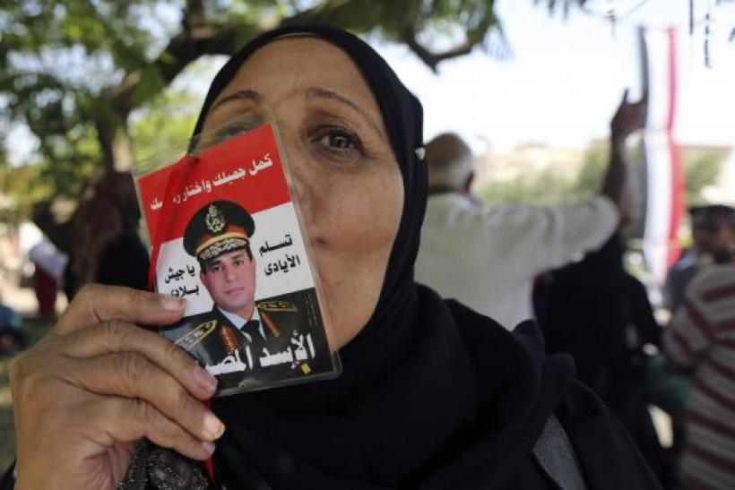 A supporter of al-Sisi