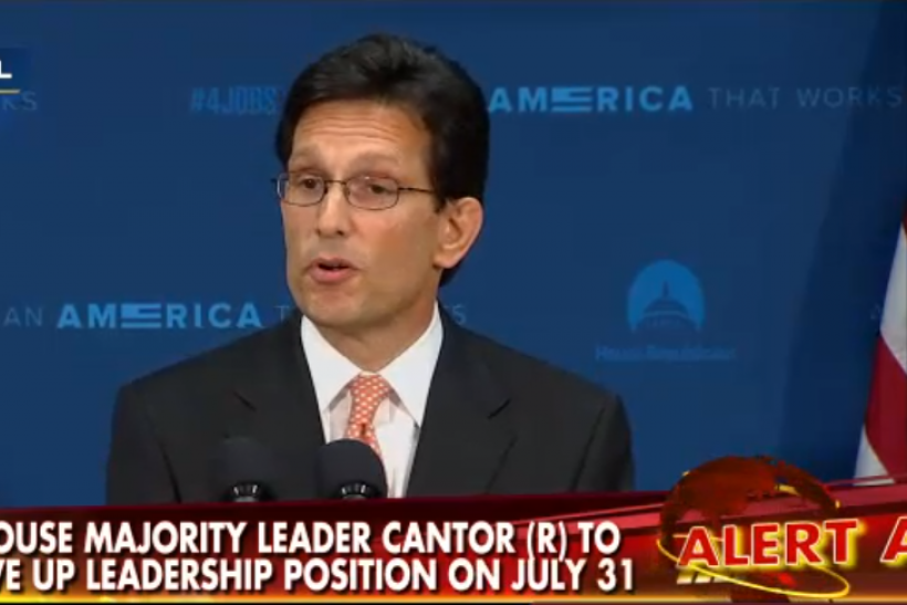 Eric Cantor press conference
