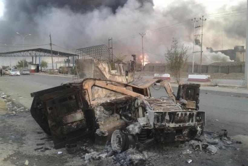 Mosul burnt vehicle