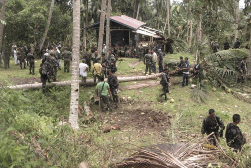 seized camp of Abu Sayyaf militants