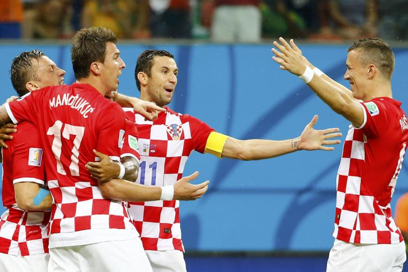 Ivica Olic Ivan Perisic Croatia 2014 World Cup