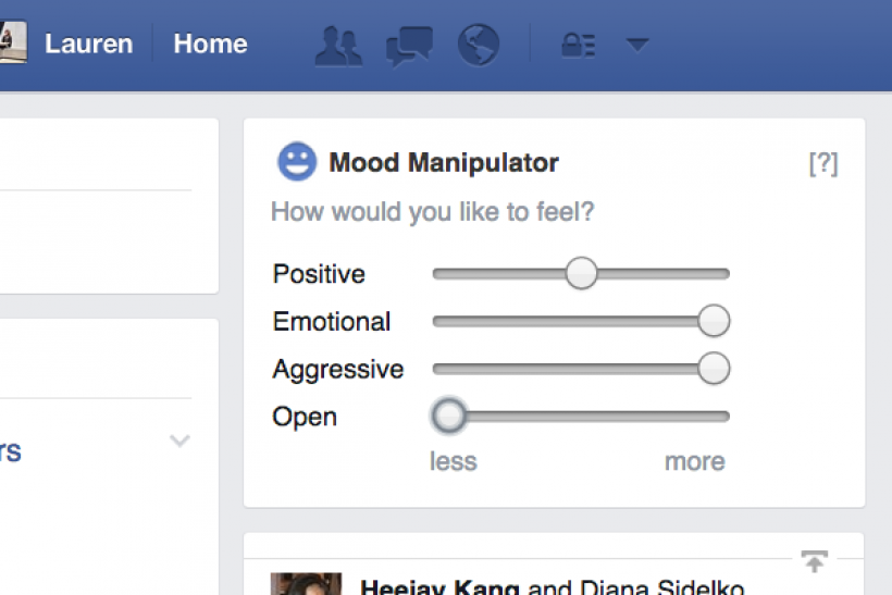 Facebook Users Can Manipulate Own Emotions With New Google Chrome