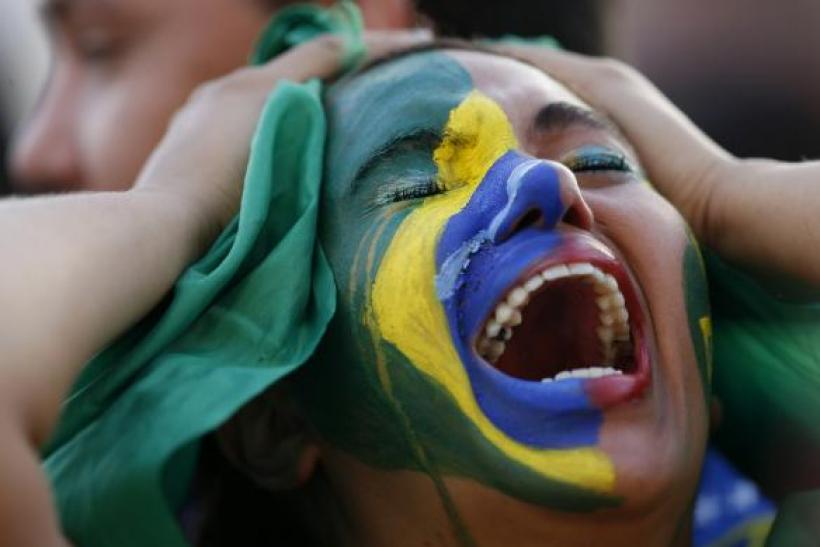 Brazil fan reacts