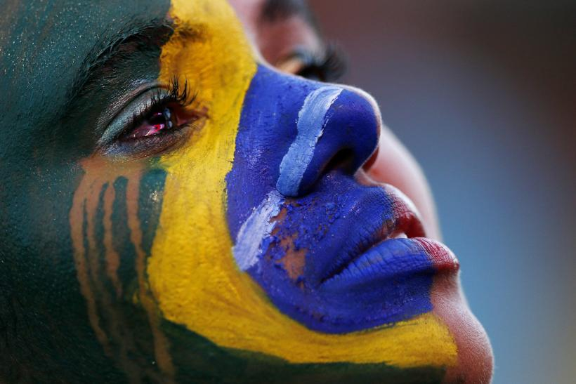 Crying Brazil Fan World Cup 2014