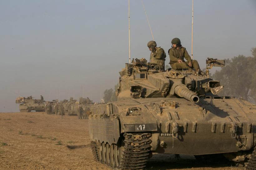 Israeli tank outside Gaza