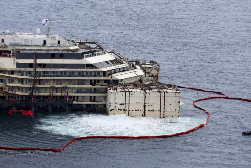 Costa Concordia refloat process