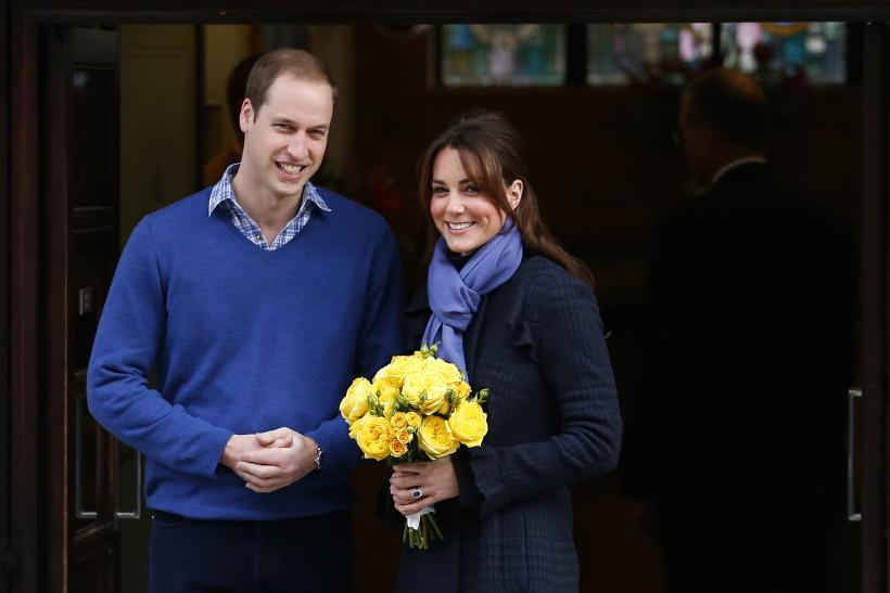 Prince William and Kate Middleton leave hospital