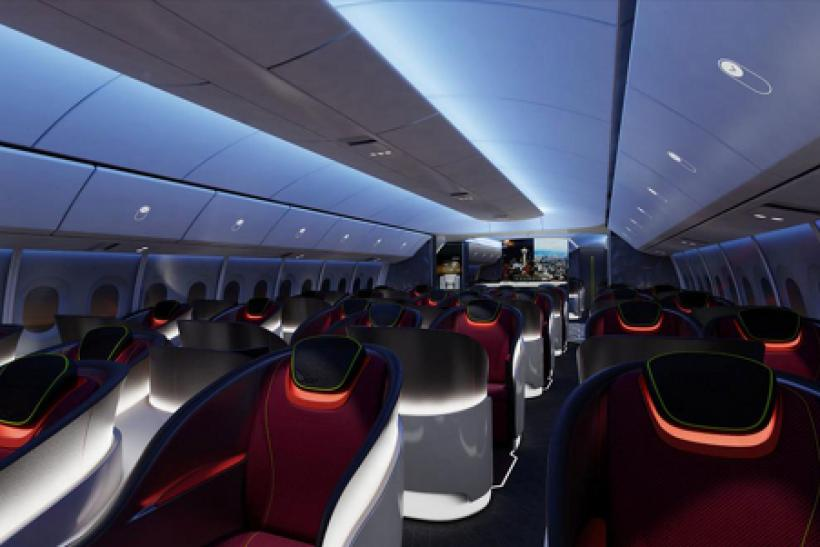 Rendering of Boeing 777X interior
