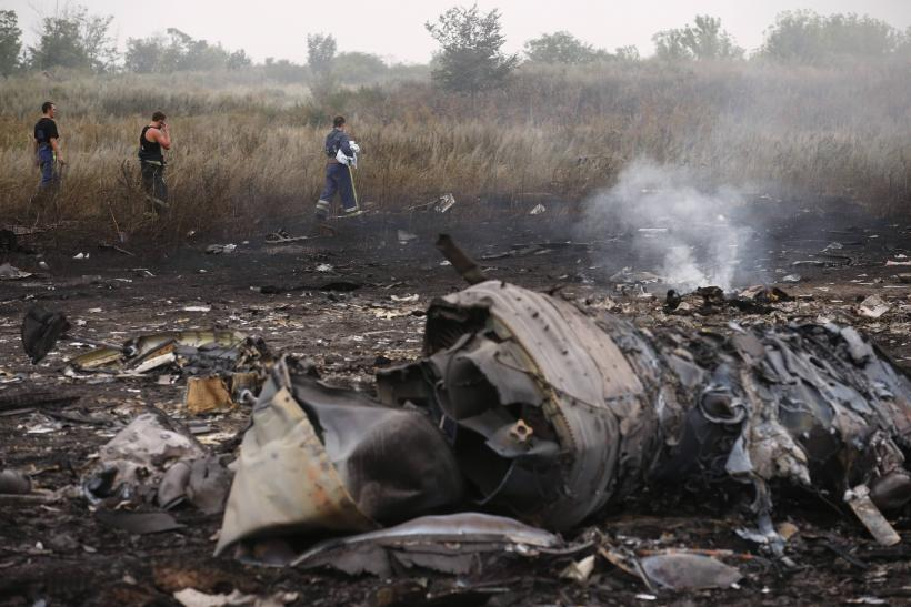 Malaysian airliner after crash