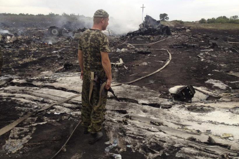 Pro-Russian separatist at Malaysian plan crash site