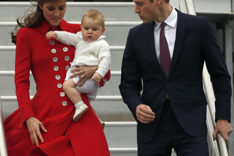 Kate Middleton, Prince William and Prince George