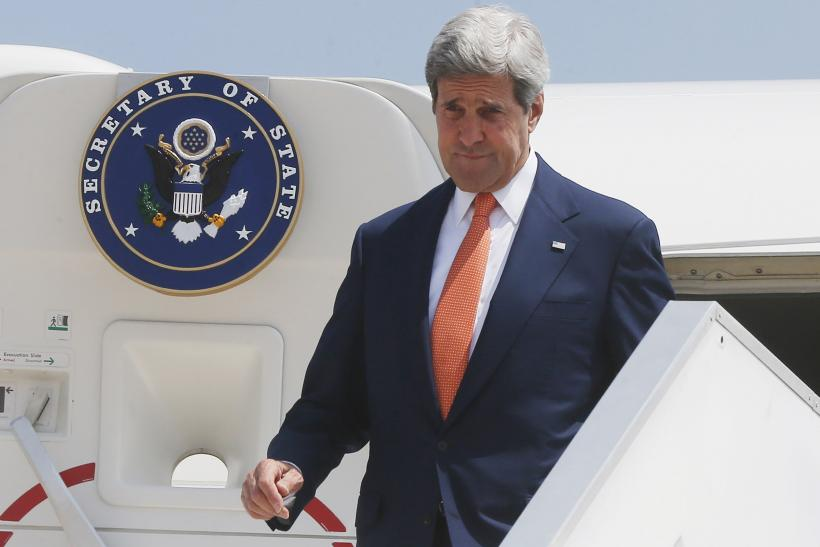 U.S. Secretary of State John Kerry arrives in Tel Aviv, July 23, 2014.