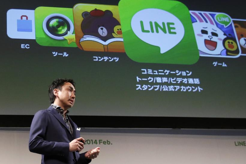 Line chat application