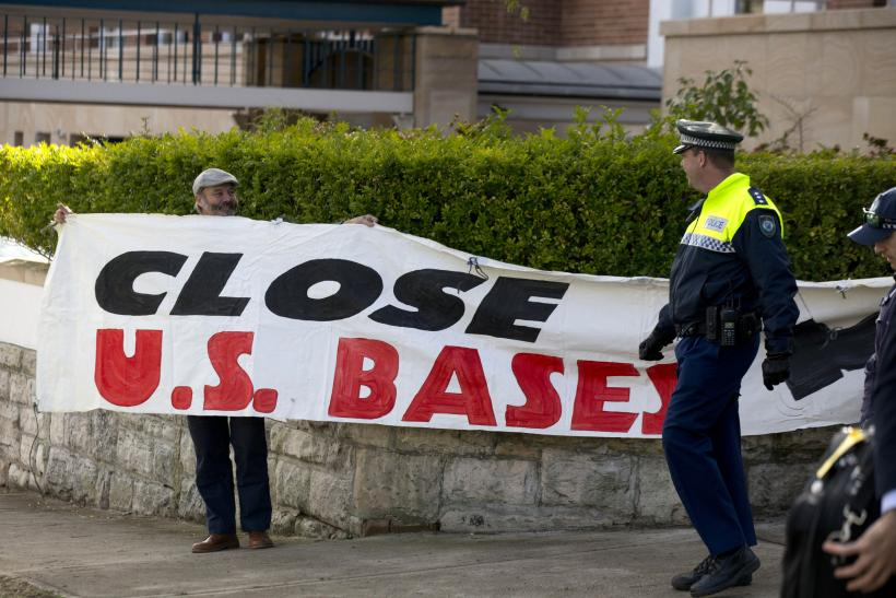 US Bases In Australia_Protests_Aug12