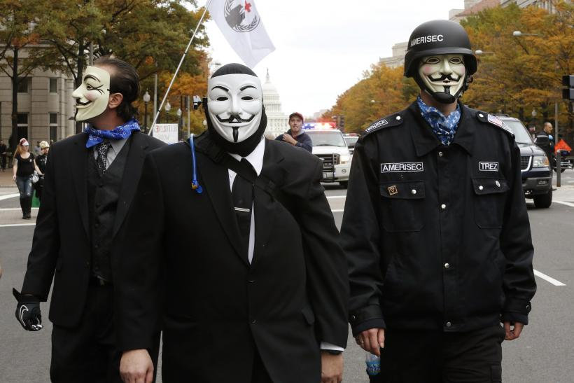 Anonymous marchers