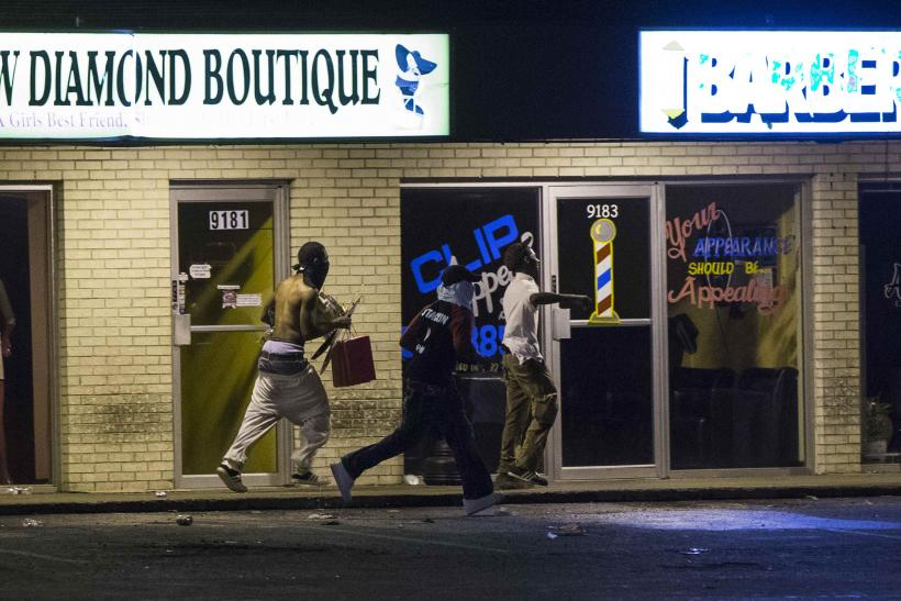Apparent Looting In Ferguson, Mo., Aug. 16, 2014