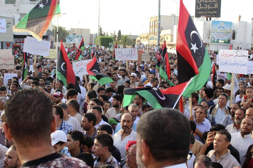 Libya protests against government