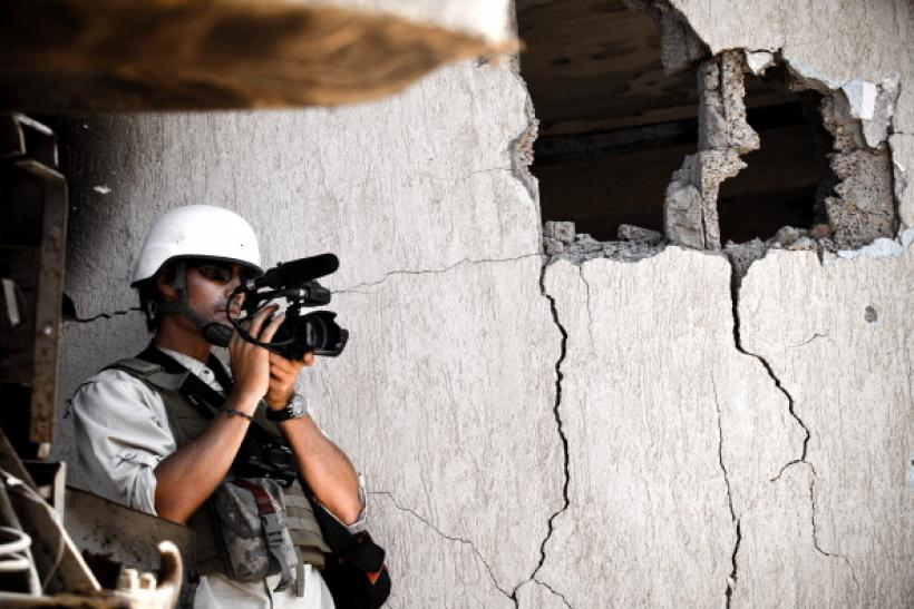 James Foley films in Libya