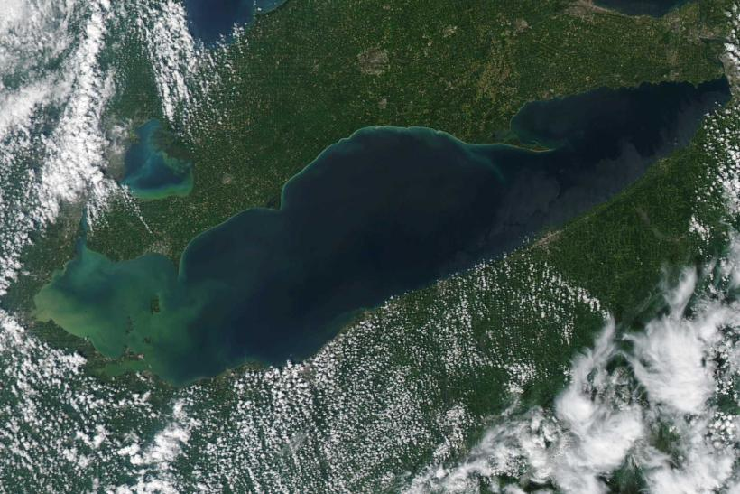 Lake Erie Algae Bloom August 27 2014