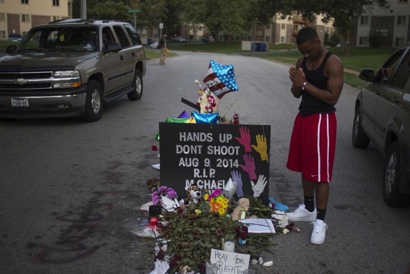 Mike Brown makeshift memorial