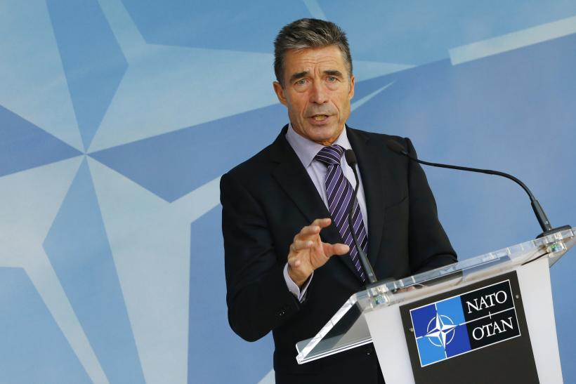 Anders Fogh Rasmussen Addresses NATO members.