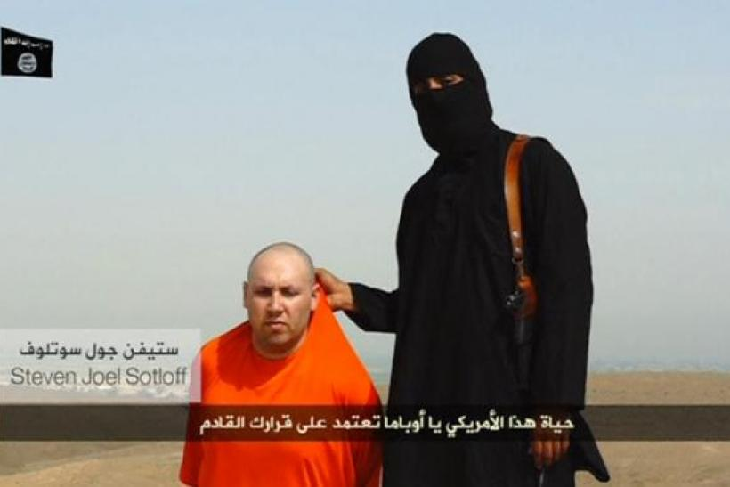 Sotloff with ISIS member