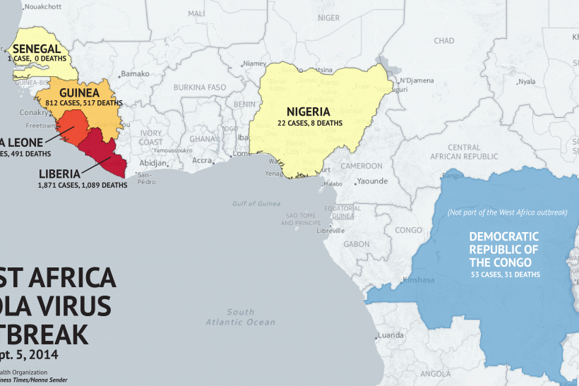 Where Is The Ebola Outbreak? Updated Map Of Ebola Virus Outbreak
