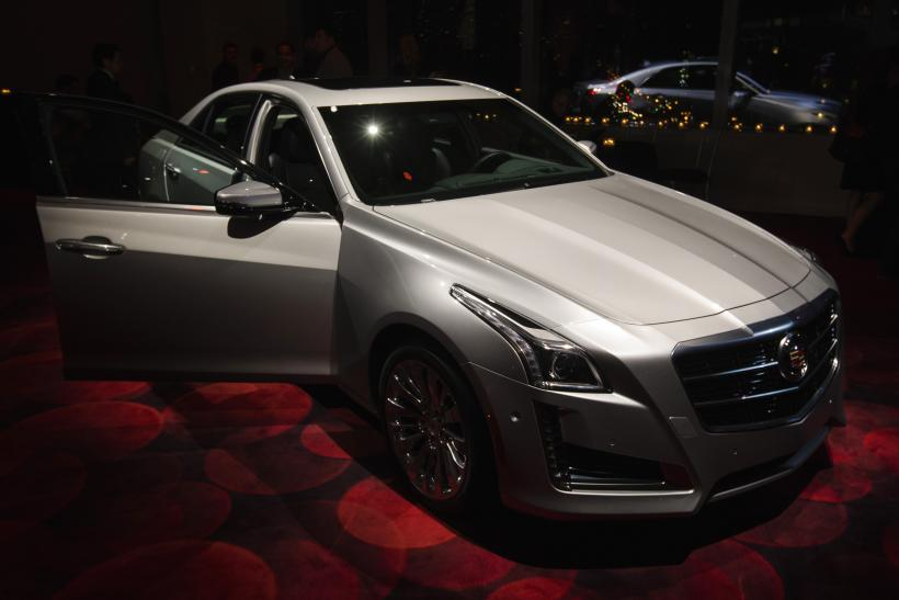 A 2017 Cadillac Cts Sedan Is Displayed On Stage During An Unveiling Ceremony In New York March 26 Photo Reuters Lucas Jackson