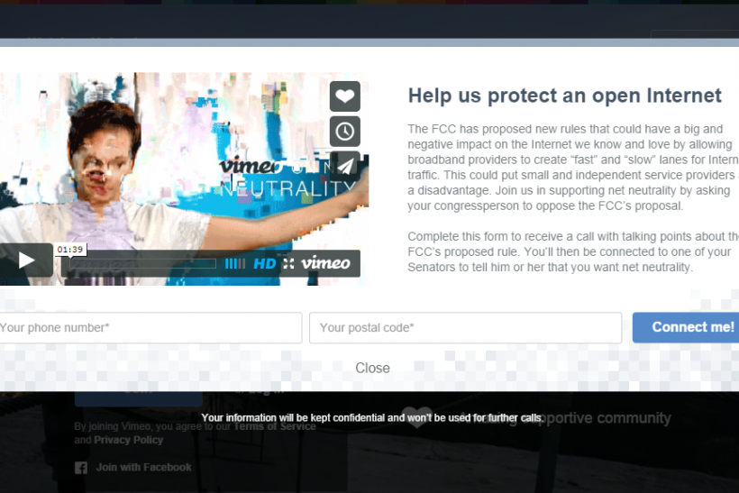 Vimeo Internet Slowdown Protest