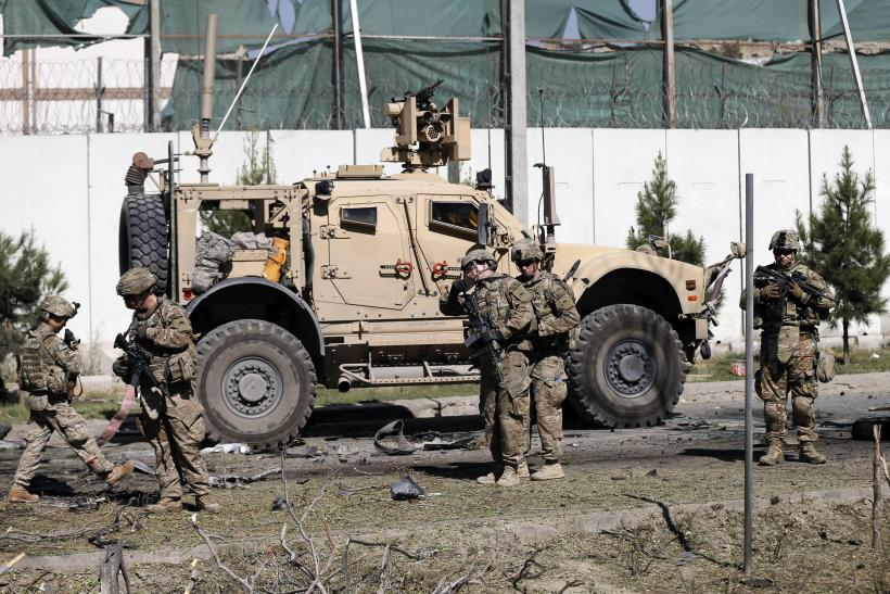 U.S. troops at Kabul blast location