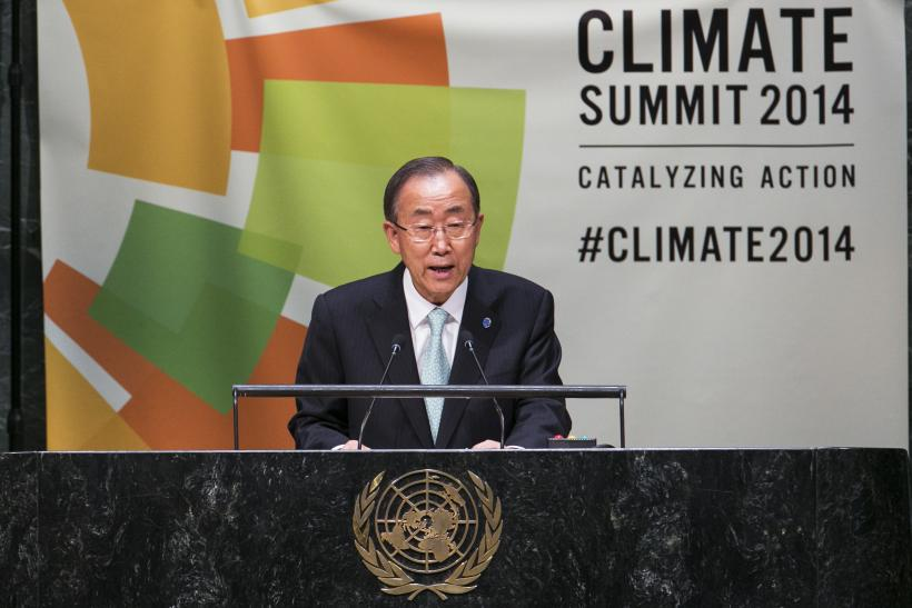 UN Climate Summit Ban Ki-moon Finance