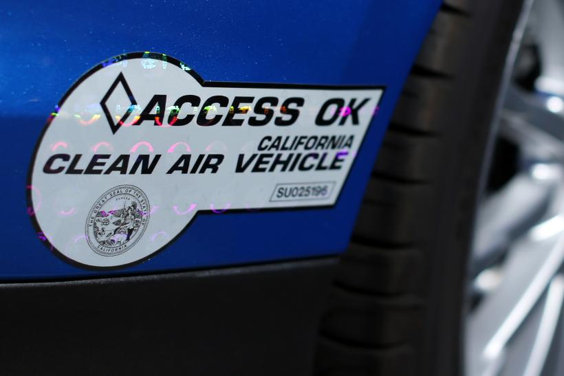 California Clean Air Vehicle Sticker