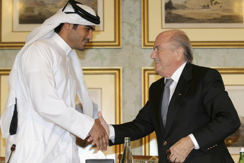 Sepp Blatter meets with Sheikh Mohammed Al-Thani