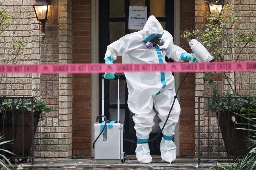Dallas Ebola nurse's house