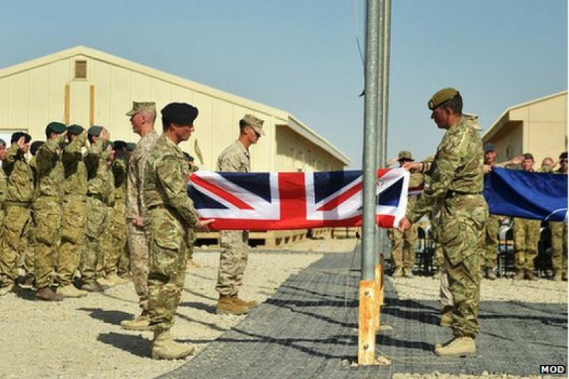 British Troops Handover Camp Bastion