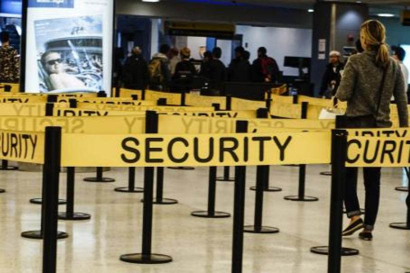 Airport security point, JFK