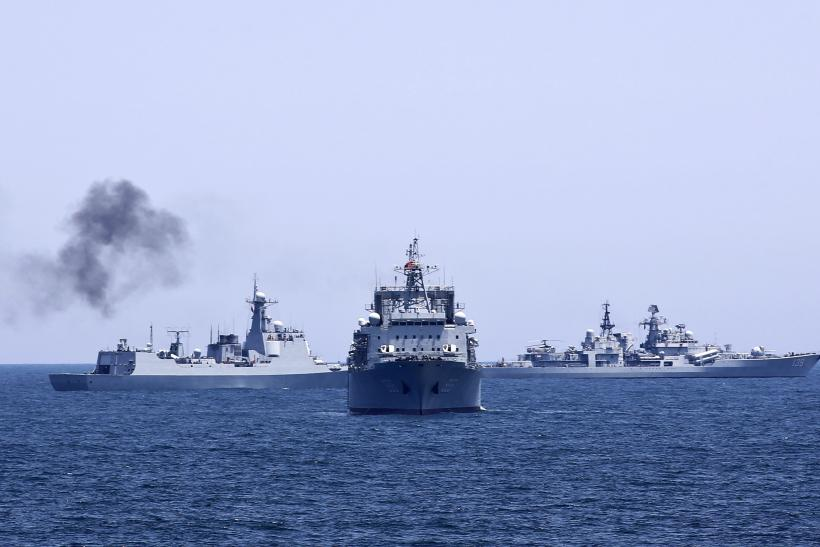 Russian warships in the Mediterranean