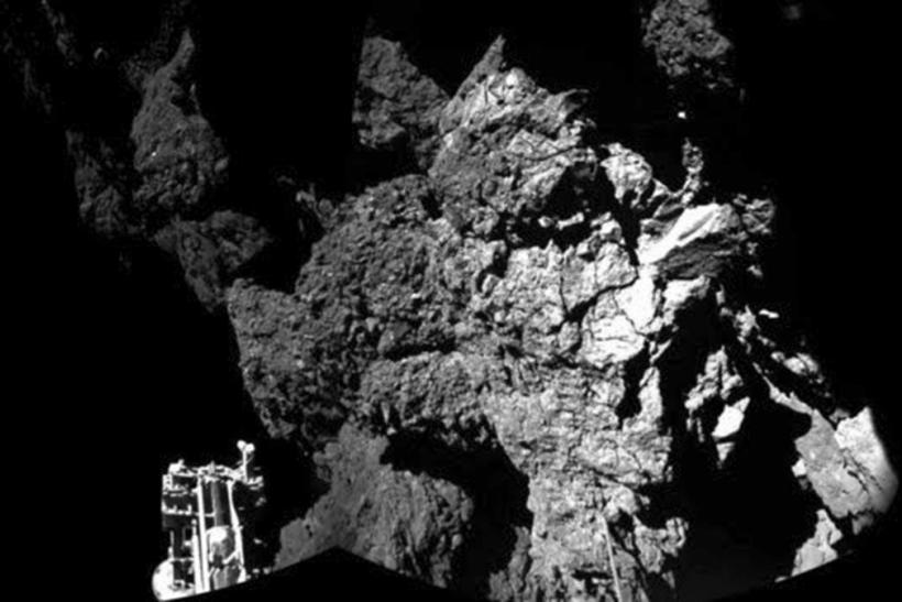 Philae probe on the comet