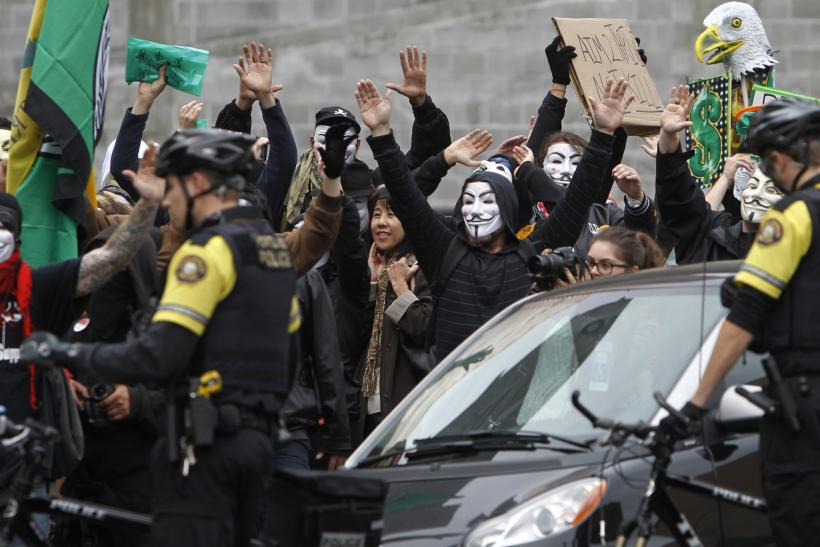 Anonymous with Police