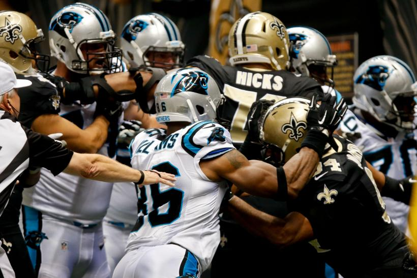 Saints Panthers Fight