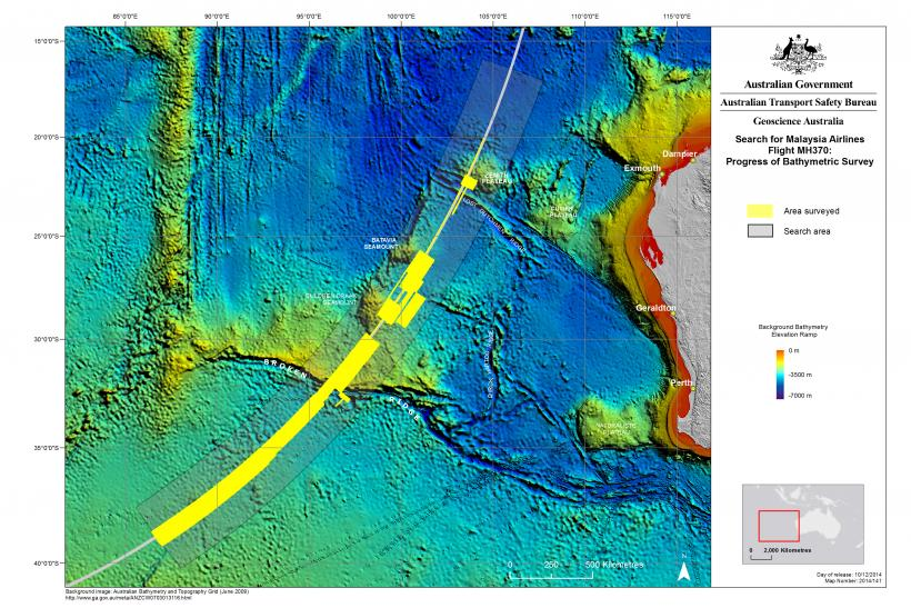 Area of Search for MH370