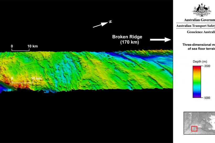 MH370 Search- 3d model of the seafloor
