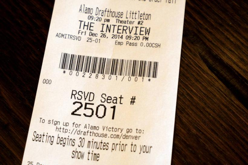 The Interview ticket stub