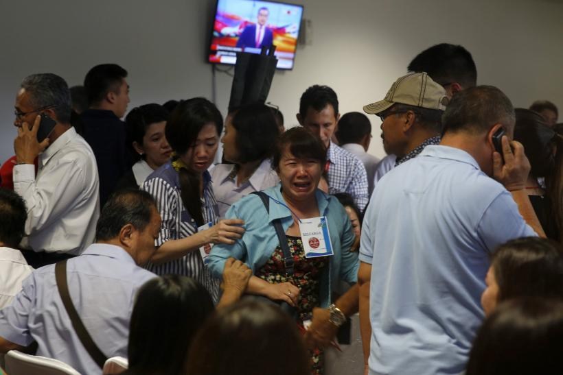 Relatives react to the debris being found in the Java Sea