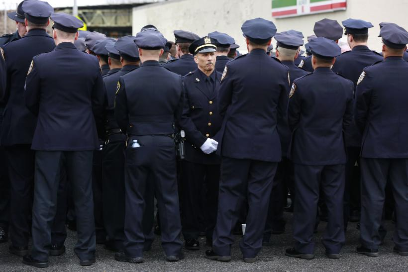 NYPDProtest_WenjianLiuFuneral