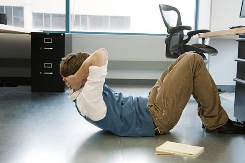 Working out at work